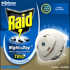 Raid Night & Day Trio Insektenstecker Original EDGES